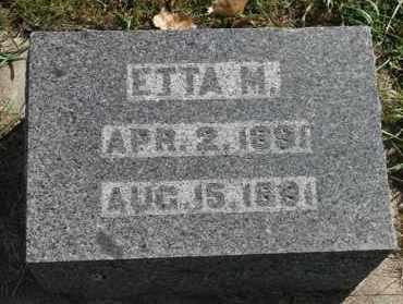 JENSEN, ETTA M - Turner County, South Dakota | ETTA M JENSEN - South Dakota Gravestone Photos