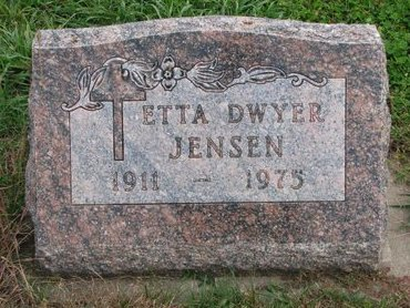 JENSEN, ETTA - Turner County, South Dakota | ETTA JENSEN - South Dakota Gravestone Photos