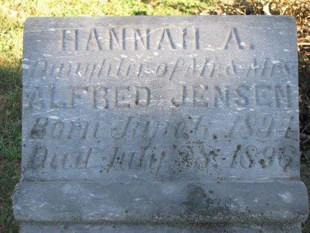 JENSEN, HANNAH A. (CLOSE UP) - Turner County, South Dakota   HANNAH A. (CLOSE UP) JENSEN - South Dakota Gravestone Photos