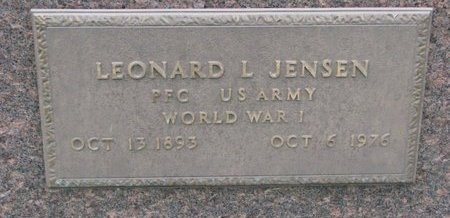 JENSEN, LEONARD L. (MILITARY) - Turner County, South Dakota | LEONARD L. (MILITARY) JENSEN - South Dakota Gravestone Photos