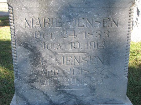 JENSEN, MARIE (CLOSE UP) - Turner County, South Dakota | MARIE (CLOSE UP) JENSEN - South Dakota Gravestone Photos