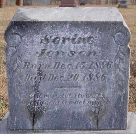 JENSEN, SERINE - Turner County, South Dakota | SERINE JENSEN - South Dakota Gravestone Photos