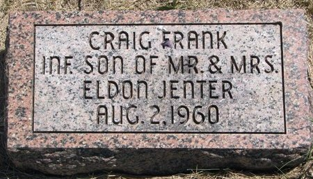 JENTER, CRAIG FRANK - Turner County, South Dakota   CRAIG FRANK JENTER - South Dakota Gravestone Photos