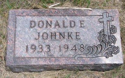 JOHNKE, DONALD E. - Turner County, South Dakota   DONALD E. JOHNKE - South Dakota Gravestone Photos