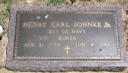 JOHNKE, HENRY CARL JR. - Turner County, South Dakota | HENRY CARL JR. JOHNKE - South Dakota Gravestone Photos