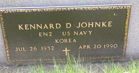 JOHNKE, KENNARD D. (MILITARY) - Turner County, South Dakota | KENNARD D. (MILITARY) JOHNKE - South Dakota Gravestone Photos
