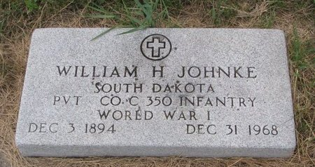 JOHNKE, WILLIAM H. - Turner County, South Dakota | WILLIAM H. JOHNKE - South Dakota Gravestone Photos