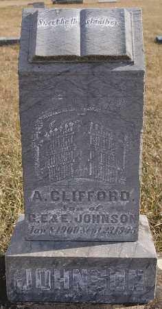 JOHNSON, A CLIFFORD - Turner County, South Dakota | A CLIFFORD JOHNSON - South Dakota Gravestone Photos