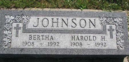 JOHNSON, HAROLD H. - Turner County, South Dakota | HAROLD H. JOHNSON - South Dakota Gravestone Photos