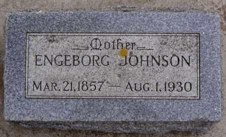 JOHNSON, ENGEBORG - Turner County, South Dakota   ENGEBORG JOHNSON - South Dakota Gravestone Photos