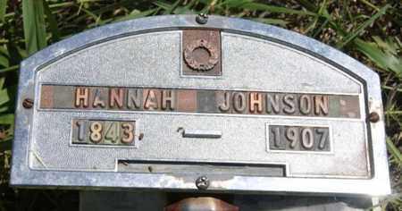 JOHNSON, HANNAH - Turner County, South Dakota   HANNAH JOHNSON - South Dakota Gravestone Photos