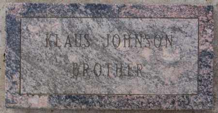 JOHNSON, KLAUS - Turner County, South Dakota | KLAUS JOHNSON - South Dakota Gravestone Photos