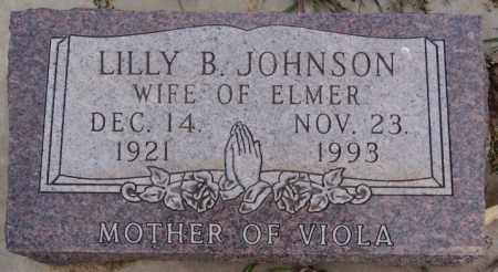 JOHNSON, LILLY B - Turner County, South Dakota | LILLY B JOHNSON - South Dakota Gravestone Photos