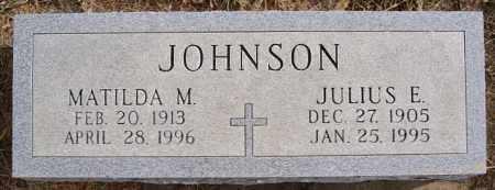 JOHNSON, JULIUS E - Turner County, South Dakota   JULIUS E JOHNSON - South Dakota Gravestone Photos