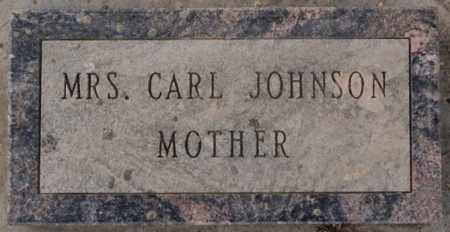 JOHNSON, MRS. CARL - Turner County, South Dakota | MRS. CARL JOHNSON - South Dakota Gravestone Photos