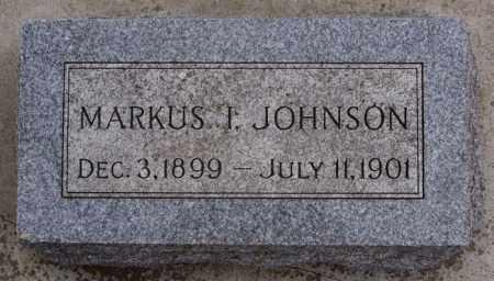 JOHNSON, MARKUS I - Turner County, South Dakota   MARKUS I JOHNSON - South Dakota Gravestone Photos