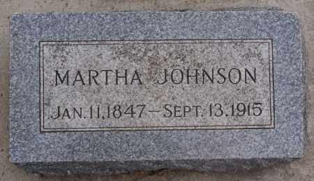 JOHNSON, MARTHA - Turner County, South Dakota   MARTHA JOHNSON - South Dakota Gravestone Photos