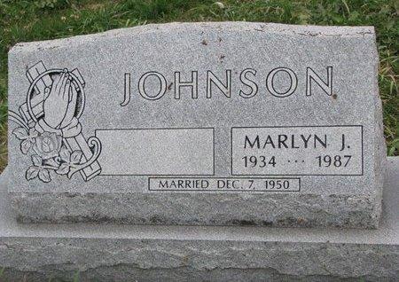 JOHNSON, MARLYN J. - Turner County, South Dakota | MARLYN J. JOHNSON - South Dakota Gravestone Photos