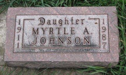 JOHNSON, MYRTLE A. - Turner County, South Dakota | MYRTLE A. JOHNSON - South Dakota Gravestone Photos