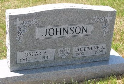 JOHNSON, OSCAR A. - Turner County, South Dakota | OSCAR A. JOHNSON - South Dakota Gravestone Photos