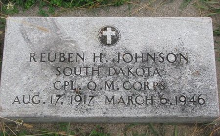 JOHNSON, REUBEN H. (MILITARY) - Turner County, South Dakota | REUBEN H. (MILITARY) JOHNSON - South Dakota Gravestone Photos