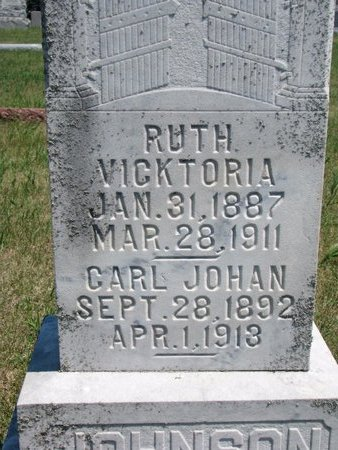 JOHNSON, RUTH VICKTORIA (CLOSE UP) - Turner County, South Dakota | RUTH VICKTORIA (CLOSE UP) JOHNSON - South Dakota Gravestone Photos