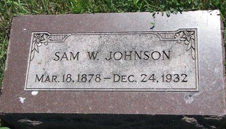 JOHNSON, SAM W. - Turner County, South Dakota   SAM W. JOHNSON - South Dakota Gravestone Photos