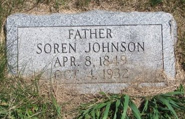 JOHNSON, SOREN - Turner County, South Dakota | SOREN JOHNSON - South Dakota Gravestone Photos