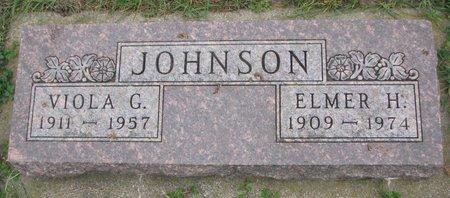 JOHNSON, ELMER H. - Turner County, South Dakota | ELMER H. JOHNSON - South Dakota Gravestone Photos