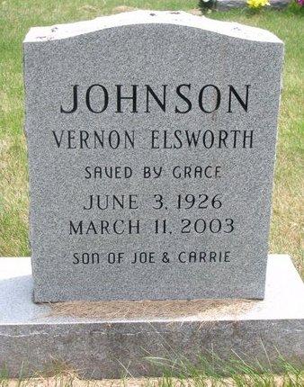 JOHNSON, VERNON ELSWORTH - Turner County, South Dakota | VERNON ELSWORTH JOHNSON - South Dakota Gravestone Photos