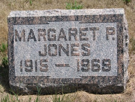 JONES, MARGARET P. - Turner County, South Dakota | MARGARET P. JONES - South Dakota Gravestone Photos