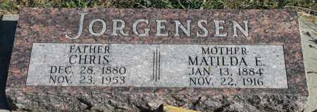 JORGENSEN, MATILDA E - Turner County, South Dakota | MATILDA E JORGENSEN - South Dakota Gravestone Photos