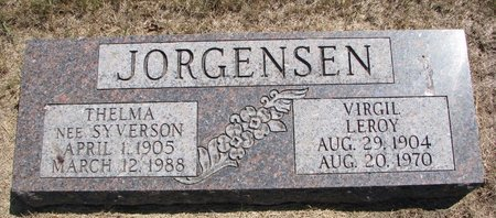 JORGENSEN, THELMA - Turner County, South Dakota | THELMA JORGENSEN - South Dakota Gravestone Photos