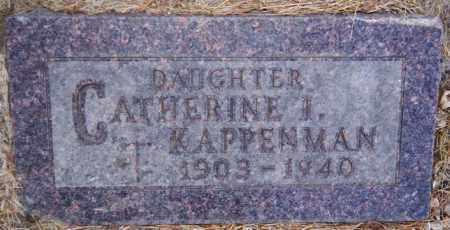 KAPPENMAN, CATHERINE I - Turner County, South Dakota   CATHERINE I KAPPENMAN - South Dakota Gravestone Photos