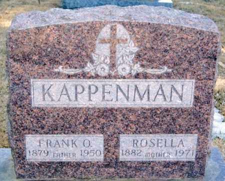KAPPENMAN, FRANK O - Turner County, South Dakota | FRANK O KAPPENMAN - South Dakota Gravestone Photos