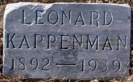 KAPPENMAN, LEONARD - Turner County, South Dakota   LEONARD KAPPENMAN - South Dakota Gravestone Photos