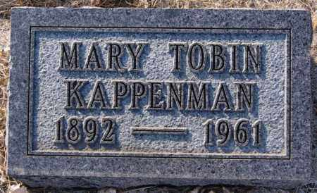 KAPPENMAN, MARY TOBIN - Turner County, South Dakota   MARY TOBIN KAPPENMAN - South Dakota Gravestone Photos