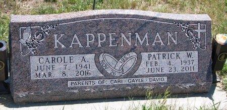 KAPPENMAN, CAROLE ANN - Turner County, South Dakota | CAROLE ANN KAPPENMAN - South Dakota Gravestone Photos