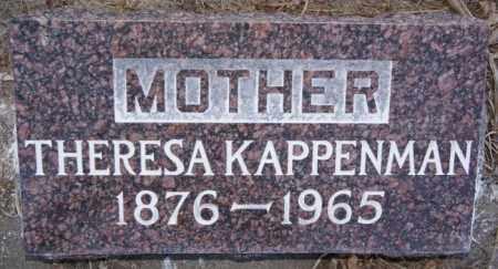 KAPPENMAN, THERESA - Turner County, South Dakota | THERESA KAPPENMAN - South Dakota Gravestone Photos