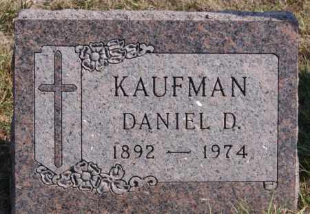 KAUFMAN, DANIEL D - Turner County, South Dakota   DANIEL D KAUFMAN - South Dakota Gravestone Photos