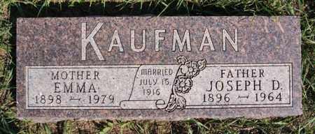 KAUFMAN, JOSEPH D - Turner County, South Dakota | JOSEPH D KAUFMAN - South Dakota Gravestone Photos