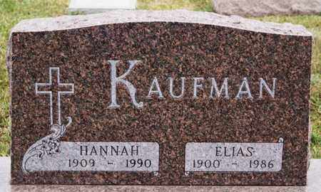 KAUFMAN, HANNAH - Turner County, South Dakota | HANNAH KAUFMAN - South Dakota Gravestone Photos