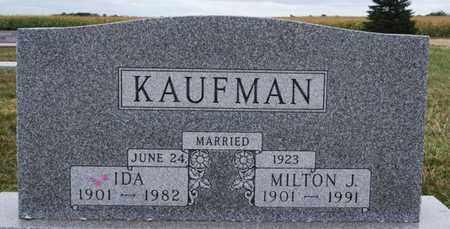 KAUFMAN, MILTON J - Turner County, South Dakota | MILTON J KAUFMAN - South Dakota Gravestone Photos