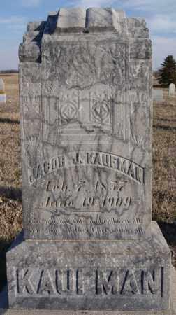 KAUFMAN, JACOB J - Turner County, South Dakota | JACOB J KAUFMAN - South Dakota Gravestone Photos