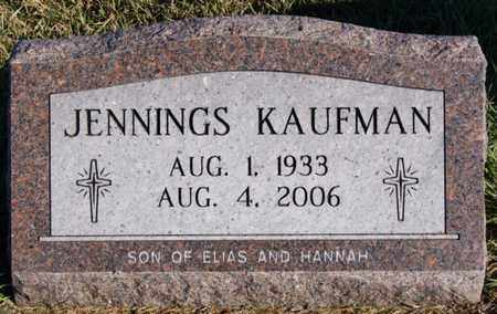 KAUFMAN, JENNINGS - Turner County, South Dakota   JENNINGS KAUFMAN - South Dakota Gravestone Photos