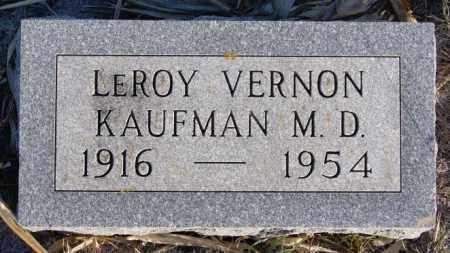 KAUFMAN, LEROY VERNON - Turner County, South Dakota | LEROY VERNON KAUFMAN - South Dakota Gravestone Photos