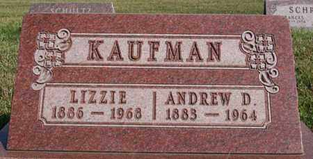 KAUFMAN, ANDREW D - Turner County, South Dakota   ANDREW D KAUFMAN - South Dakota Gravestone Photos