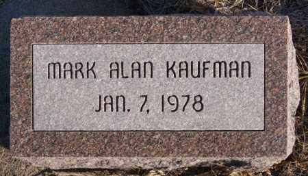 KAUFMAN, MARK ALAN - Turner County, South Dakota   MARK ALAN KAUFMAN - South Dakota Gravestone Photos