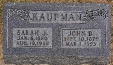 KAUFMAN, SARAH J - Turner County, South Dakota | SARAH J KAUFMAN - South Dakota Gravestone Photos