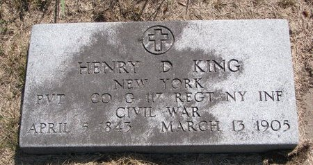 KING, HENRY D. - Turner County, South Dakota   HENRY D. KING - South Dakota Gravestone Photos